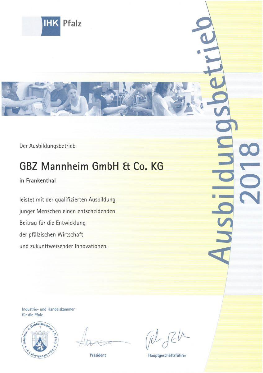 gbz mannheim gmbh co kg jobs ausbildung. Black Bedroom Furniture Sets. Home Design Ideas